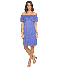 Christin Michaels Erie Lace Dress Perrywinkle Women's Dress Blue