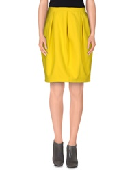 Laura Urbinati Knee Length Skirts Yellow