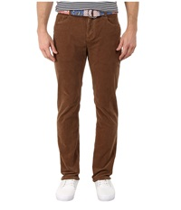 Vineyard Vines Five Pocket Cord Pants Dark Earth Men's Casual Pants Brown