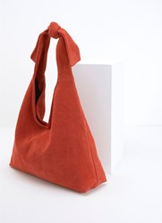Mint Velvet Tess Orange Slouchy Shopper Dark Orange