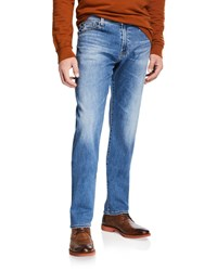 Ag Adriano Goldschmied Everett Straight Leg Denim Jeans Blue
