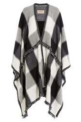 Burberry Shoes And Accessories Printed Wool Blend Cape With Cashmere