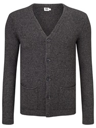 Kin By John Lewis Chunky Roll Edge Cardigan Charcoal