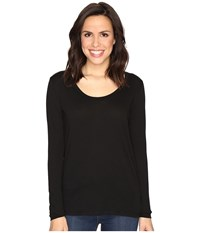 Alternative Apparel The Charmer Satin Jersey Top Black Women's Long Sleeve Pullover