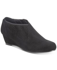 Impo Gabriella Wedge Booties Women's Shoes Black