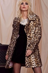 Love Courtney By Nasty Gal Electric Factory Coat Animal