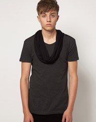 Unconditional Inserted Scarf T Shirt Gray