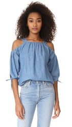 Madewell Cold Shoulder Top With Tie Sleeves Denise Wash