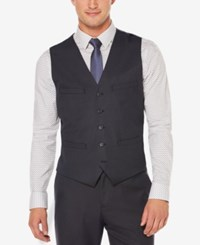 Perry Ellis Men's Classic Fit Heathered Vest Navy