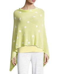 Minnie Rose Embroidered Flower Poncho Plus Size Yellow White