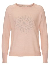 Betty Barclay Fine Knit Embellished Jumper Pink