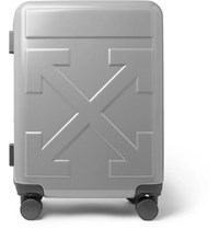 Off White Arrow Polycarbonate Carry On Suitcase Silver