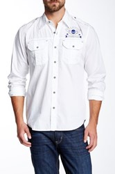 Affliction Remember My Name Long Sleeve Woven Shirt White