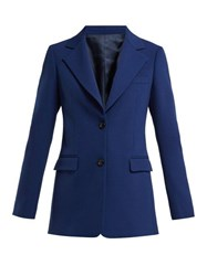 Joseph Lorenzo Tailored Wool Jacket Blue