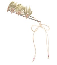 Valentino Feather Embellished Beaded Headband Multicoloured