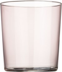 Cb2 Marta Light Pink Double Old Fashioned Glass