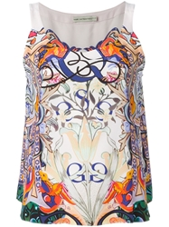 Mary Katrantzou 'Pompidou' Tank Top Pink And Purple