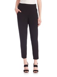 Eileen Fisher Slouchy Slim Ankle Pants Black