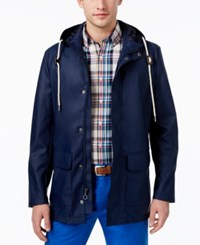 Club Room Men's Rain Slicker Only At Macy's Navy Blue