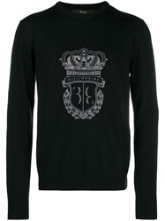 Billionaire Embroidered Logo Jumper Black