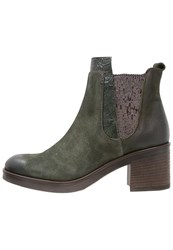 Mjus Ankle Boots Army Dark Green