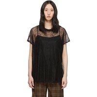 Mcq By Alexander Mcqueen Black Lace Blouse