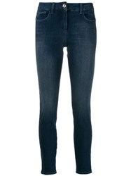 Patrizia Pepe Skinny Cropped Jeans Blue