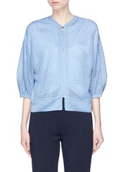 Kuho 'Wassily' Zip Mesh Knit Front Cardigan Blue