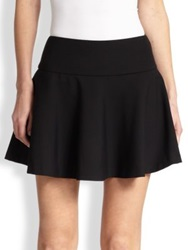 Red Valentino Cady Flared Mini Skirt Black