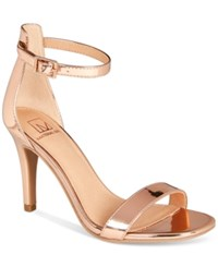 Material Girl Blaire Two Piece Dress Sandals Created For Macy's Women's Shoes Rose Gold