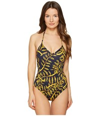 Vilebrequin Lavida One Piece Gold Palms Women's Swimsuits One Piece Yellow