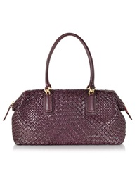Ghibli Woven Leather Tote W Detachable Pouch