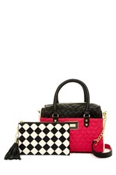 Betsey Johnson Satchel With Pouch Pink