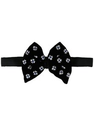 Jupe By Jackie Printed Bow Tie Black