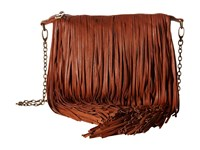 Steve Madden Btocha Fringe Crossbody Cognac Cross Body Handbags Tan