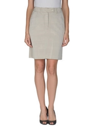 Billtornade Knee Length Skirts Beige