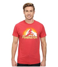 Pendleton Surf Graphic Tee Red Heather Men's T Shirt Pink