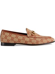 Gucci Jordaan Gg Canvas Loafers Neutrals