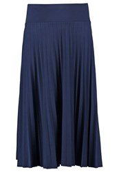 Anna Field Pleated Skirt Peacoat Dark Blue