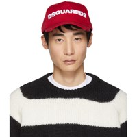 Dsquared2 Red And White Logo Baseball Cap