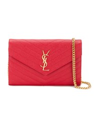 Saint Laurent Small Monogram Quilted Bag Red