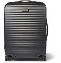 Ermenegildo Zegna Leather Trimmed Polycarbonate Carry On Suitcase Black