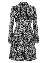 Hobbs Mackay Trench Coat Black Ivory