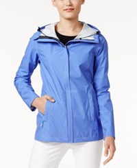 32 Degrees Hooded Waterproof Raincoat Only At Macy's Baja Blue Melange
