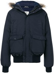 Pyrenex Padded Parka Coat Blue