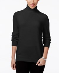 Karen Scott Petite Turtleneck Sweater Only At Macy's Luxsoft Black