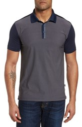 Bobby Jones Jacquard Tech Polo Navy