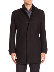 Strellson Noar Wool Blend Coat Black