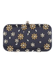 Jane Norman Satin Embellished Box Clutch Bag