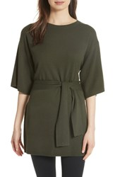 Ted Baker London Olympy Tie Front Knit Tunic Khaki